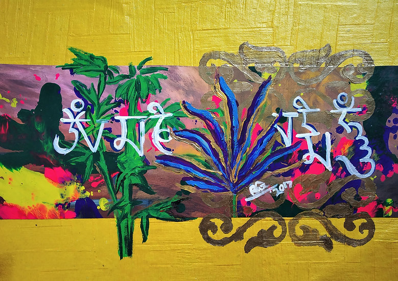 Om Mani Padme Hum! charming yellow, I am the happy lotus
