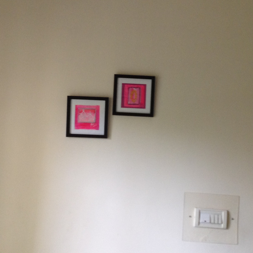 Reiki symbol sold Paintings displayed in Buyers home