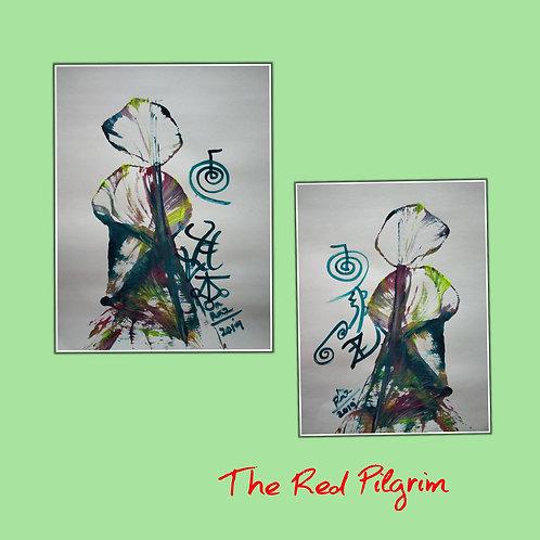 Blooming Bliss 1 and 2! Modern healing flower paintings in pair