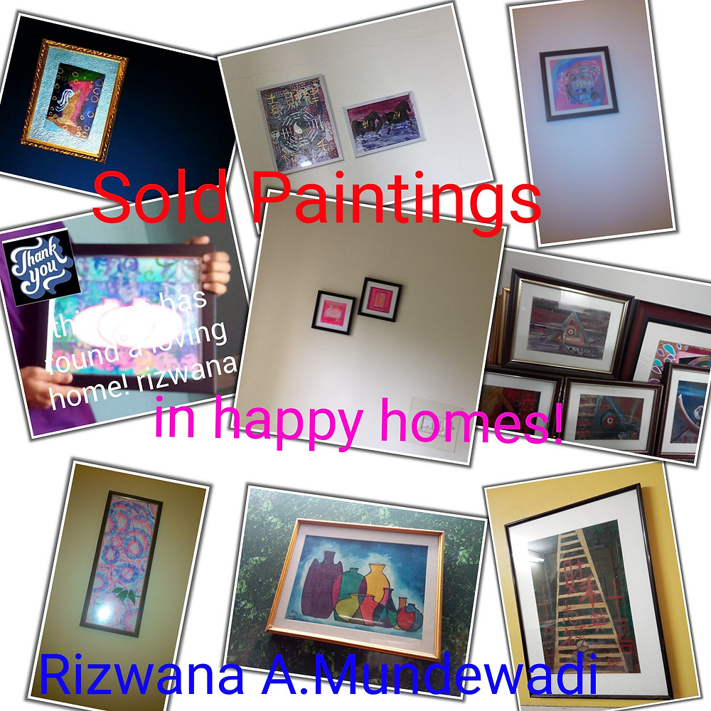 Sold paintings photos in buyers space