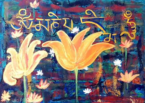 ) The Golden lotus pond of serenity Om mani padme hum