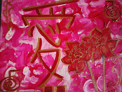 Tender passion two pink roses! ready to hang art