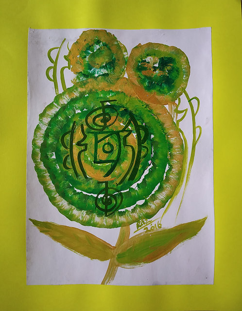 The Green Reiki Flower
