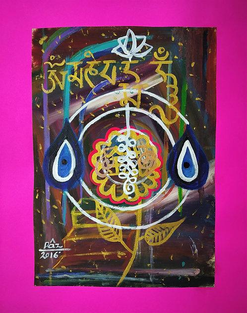Unalome Strength  Lotus Om Mani Padme Hum