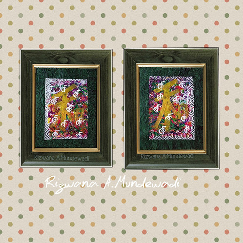 Golden Harmony! Small Reiki Sigil Modern Feng shui artworks