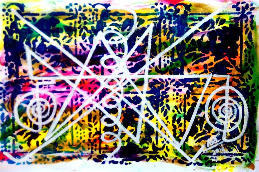 Colourful Abundance! Reiki Midas Star Painting
