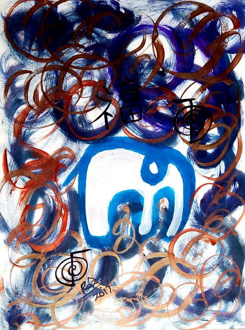 Grandeur The Modern Airavaat! Blue Reiki Elephant!