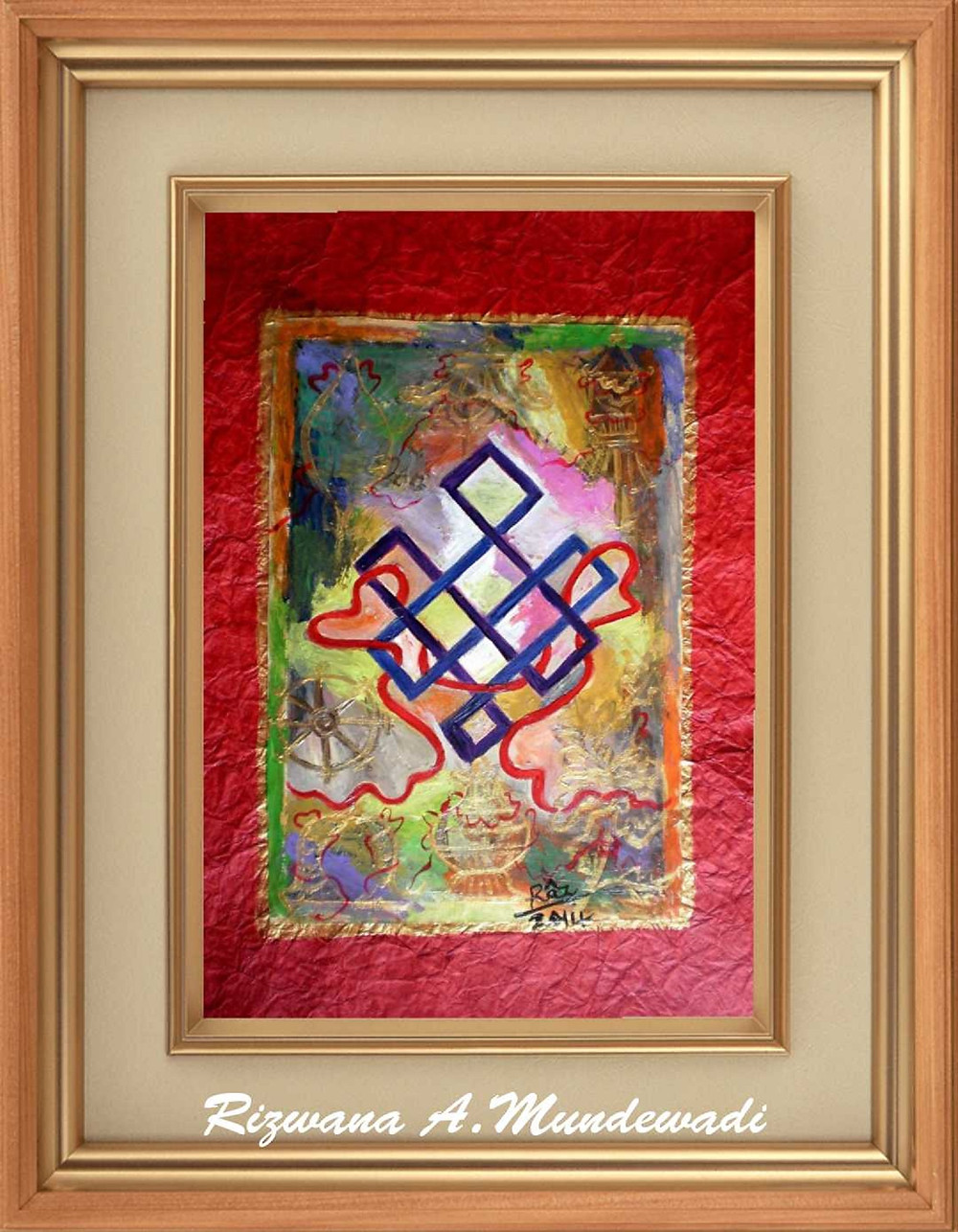 mystic knot symbol painting for sale
