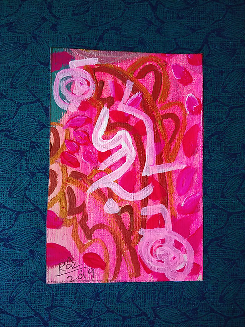 I am loved twice as much! Tiny healing art card to attract love and respect