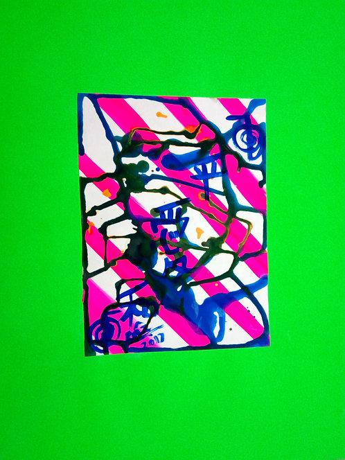 Harlequin Green 3! Peace Love Harmony