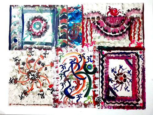 The Dance of Aum a healing collage