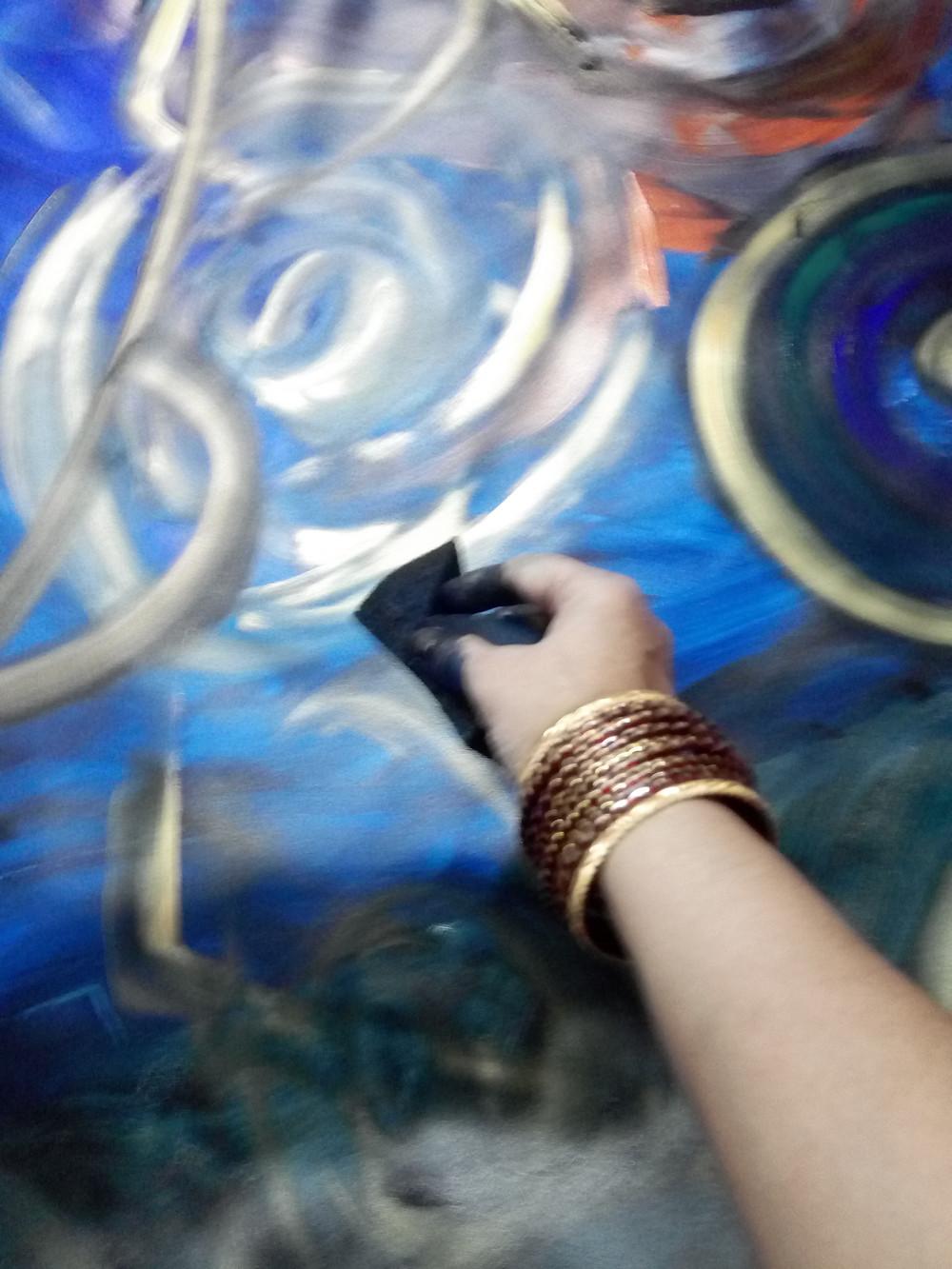 artist at work photo artwork in progress