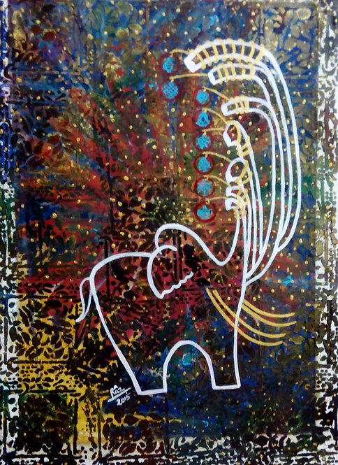 Airavaat with Seven Trunks! Glittering Reiki Elephant!