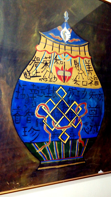 Tibetan Bhumpa! Blue Pot of Unending Prosperity