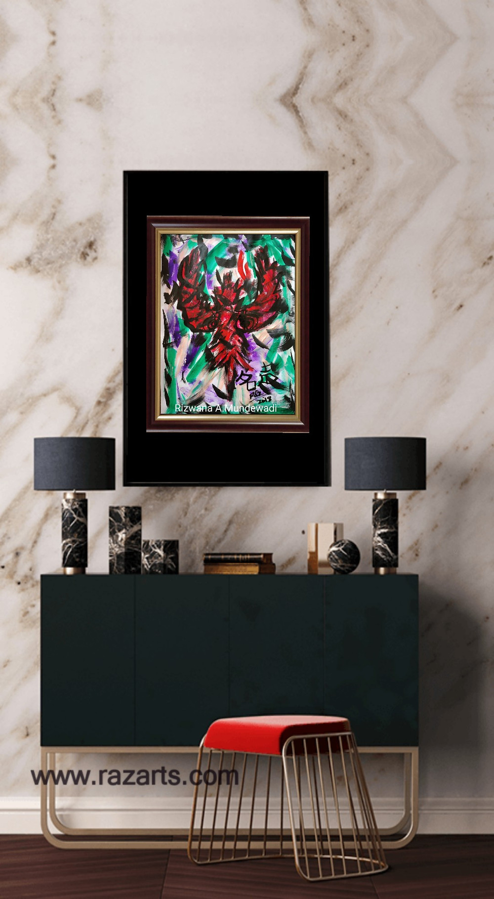 Phoenix rising feng shui painting for sale