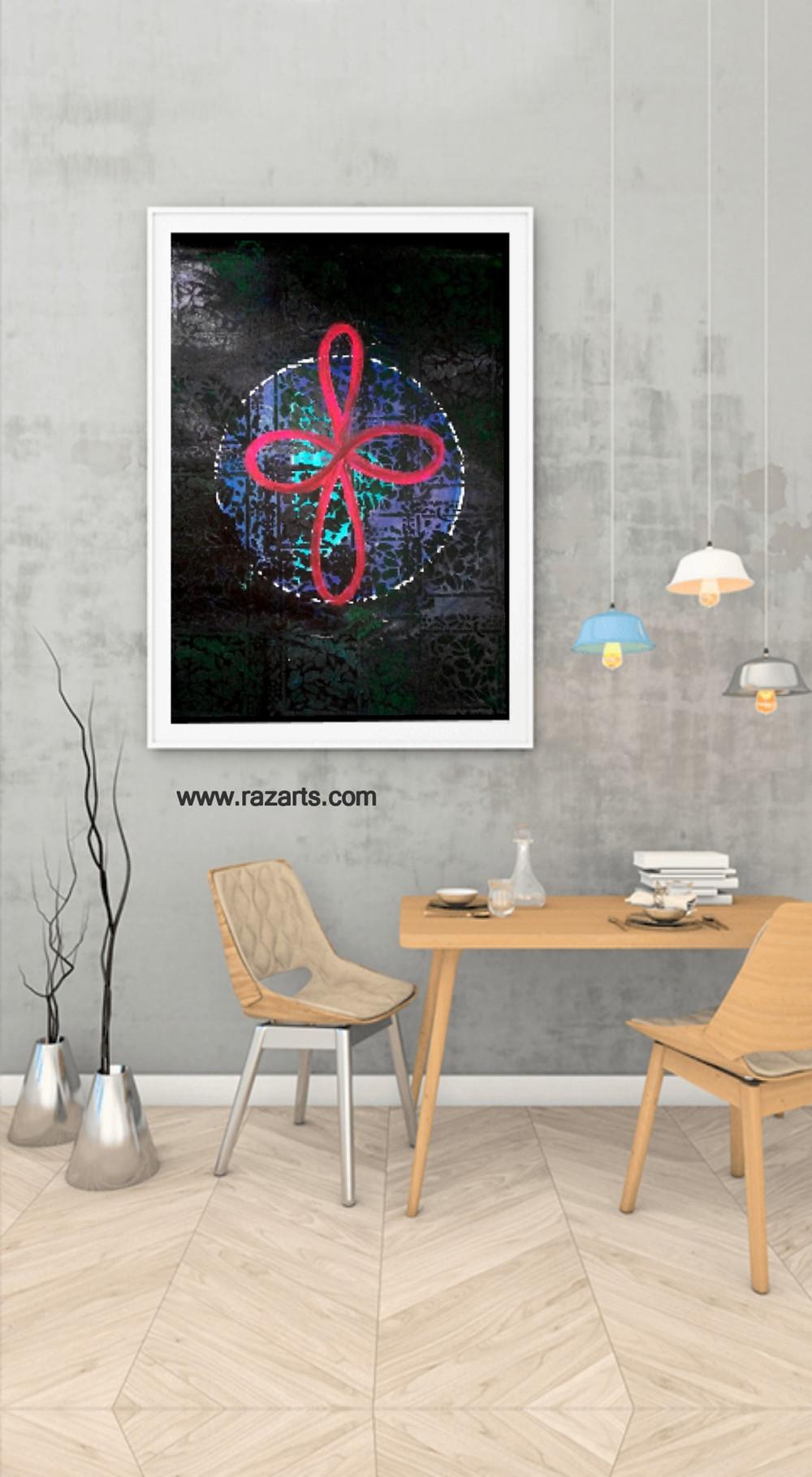 Reiki symbol Divine balance healing painting