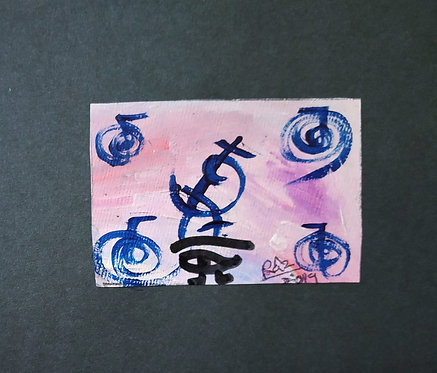 I Will Stay Sharp! I Will Stay focused on MY Goals!Tiny Reiki healing art card
