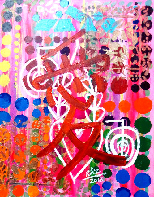 All That Remains is LOVE!Best Chinese symbol Love Calligraphy Reiki Healing Feng