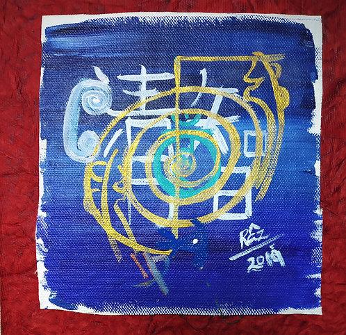 Explicit clarity happy throat chakra ! reiki small healing art sold