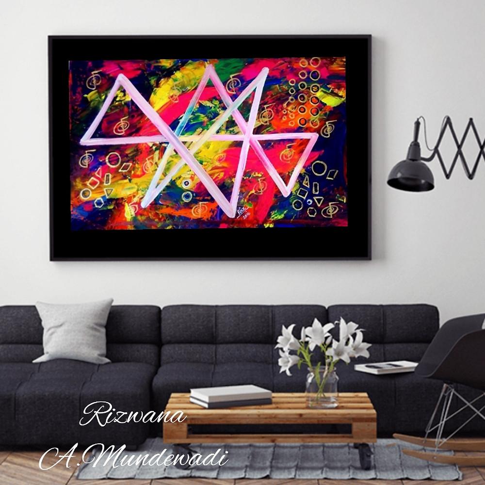 Reiki Midas star of abundance painting