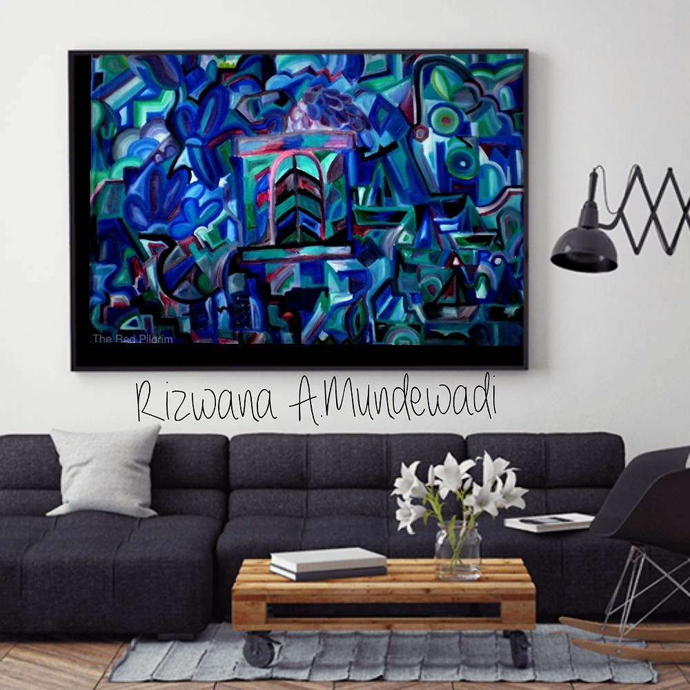 The View! One of my Best cubism abstract painting
