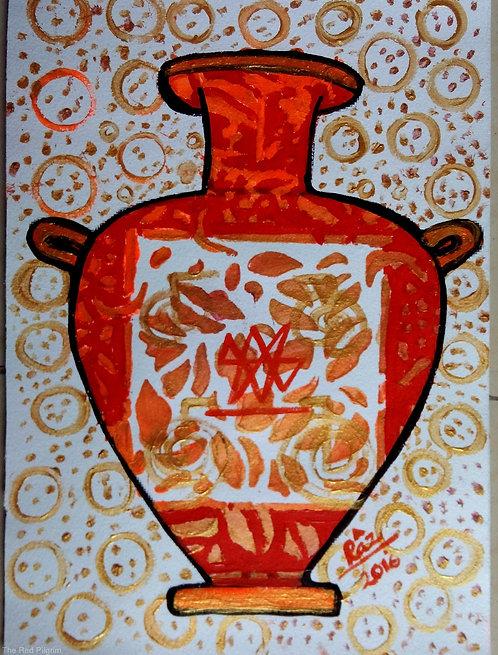 Reiki Orange Pot of Abundance