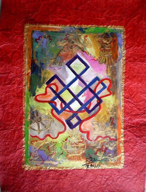 Feeling Blessed! Tibetan Ashtamangala Auspicious symbol painting