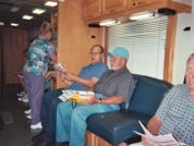 Cancer mobile unit screening men during th KY State Fair.