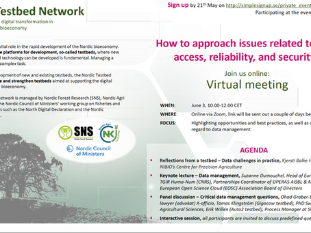 X-officio to discuss legal aspects in data management at a Nordic Testbed Network event