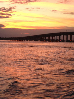 Destin Bridge at Sunset