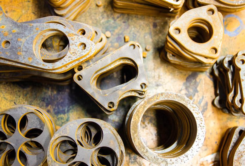 Various waterjet cut parts