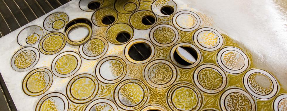waterjet cut round circles