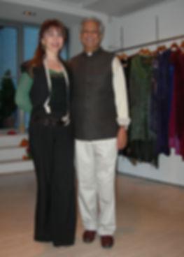 Alicia and  Prof. Mohamed Yunus Nobel pr