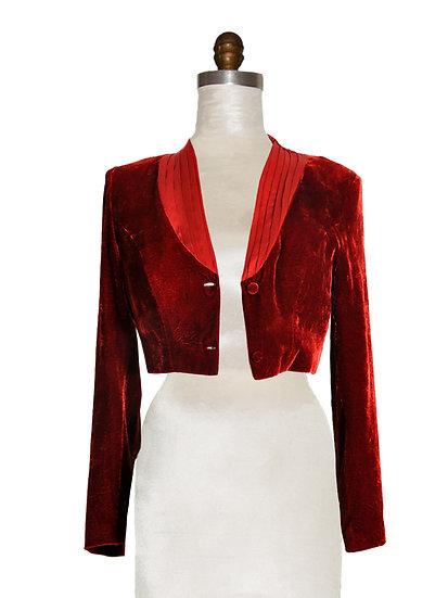 Short Jacket Silk Velvet