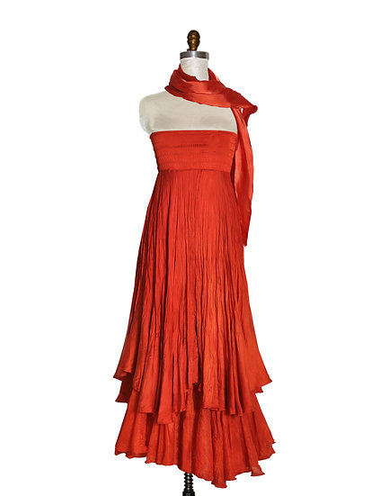 High Waist Long Dress