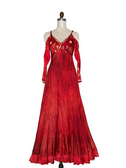 High Waist Silk Gown