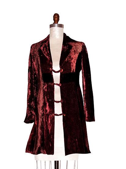 Silk Velvet Long Blazer