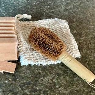 Mini Coconut Scrub Brush