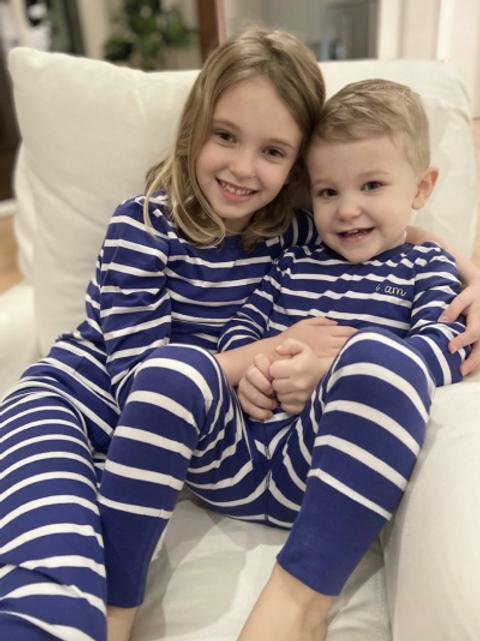 Organic Pima Cotton Stripe PJs