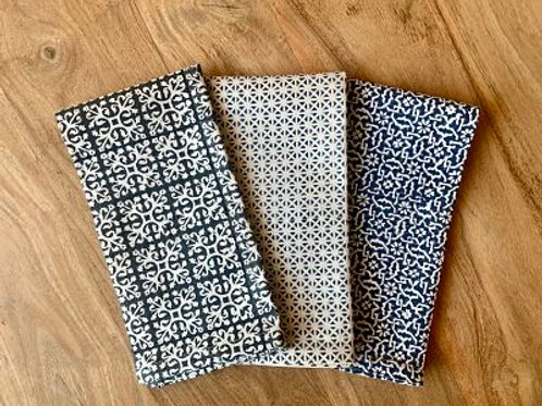 Hand block printed Napkins - set of four