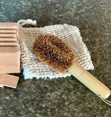 Mani-Pedi Coconut Coir Mini Scrub Brush
