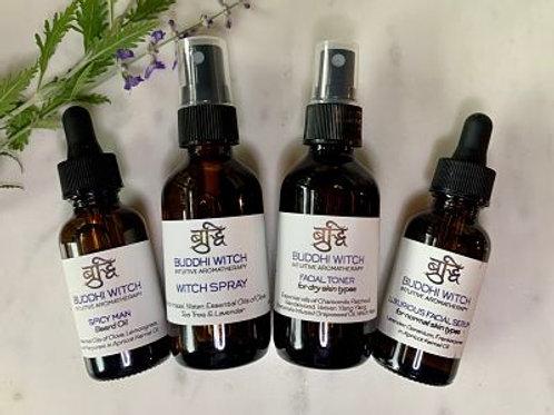 Pure Essential Oil Room Sprays & Facial, Beard, Body Serums