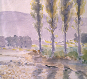 Stream and Poplars 1910