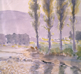 Stream and Poplars 1910