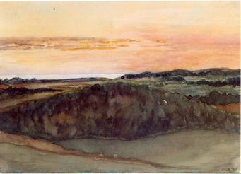 Sunset Over Michigan, 1908