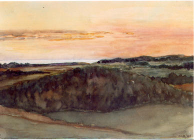 Sunset Over Michigan, 1908