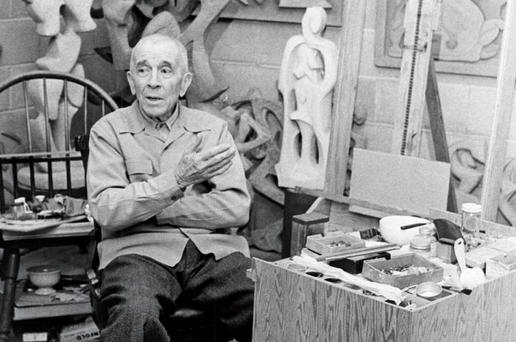 Dawson in his studio