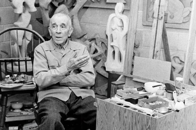 Dawson in his studio
