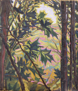 View from Woods, 1905, Oil on wood panel