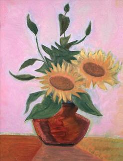 Sunflower Still Life 1909
